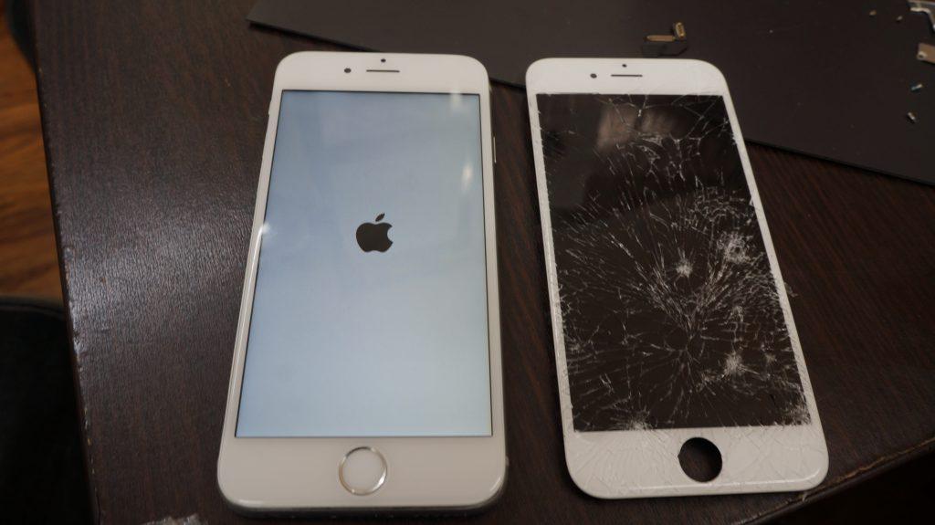 バリバリに割れた液晶交換 iPhon6s 5