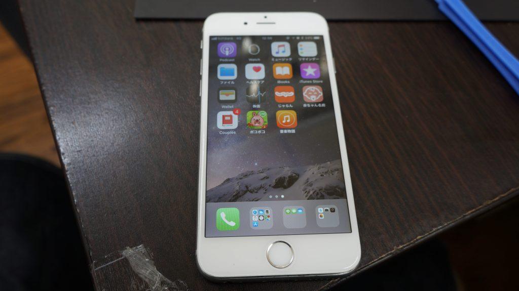 バリバリに割れた液晶交換 iPhon6s 6