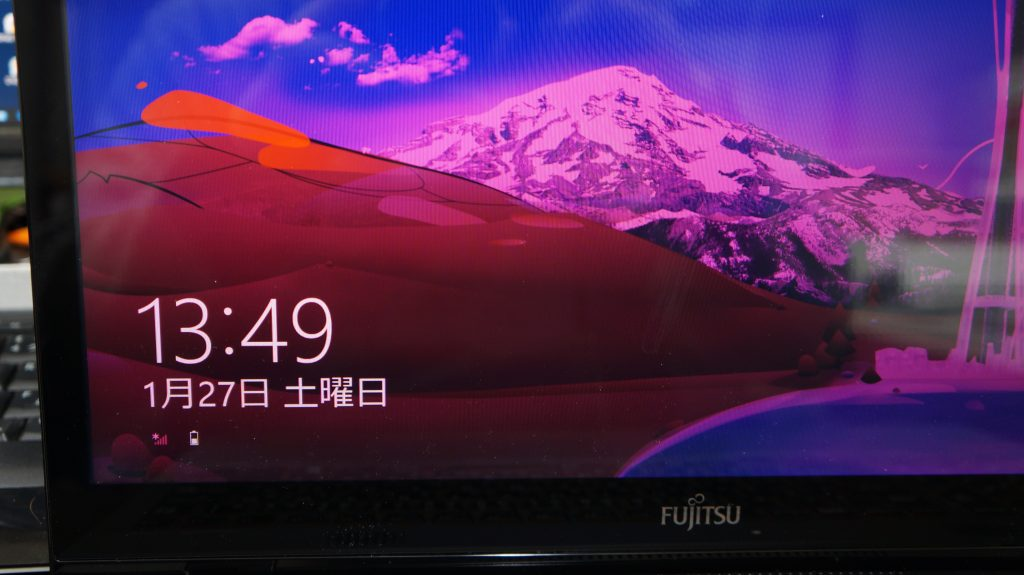 液晶がピンク色になる FUJITSU LIFEBOOK WA2/M 2
