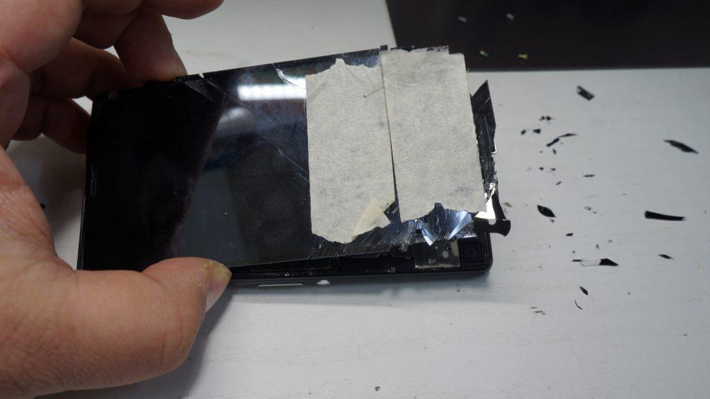 液晶パネルヒビ割れ 液晶交換 Xperia Z3 Compact SO-02G 4