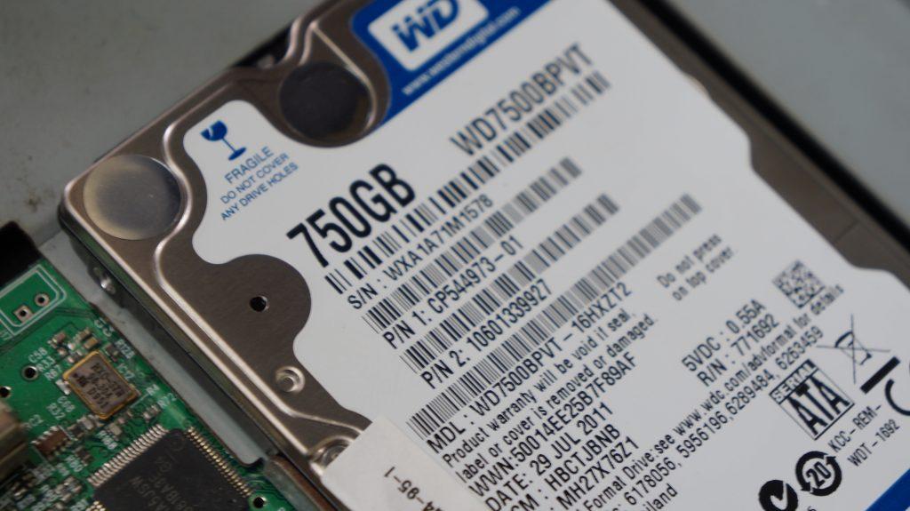ファイルシステムがRAWセクタ不良 HDD交換データ復旧 FUJITSU AH77/D 3