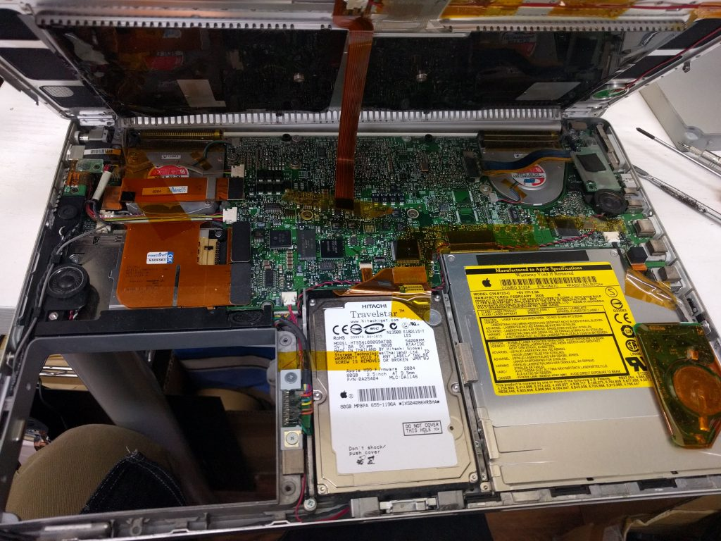 起動しない HDD交換 Macbook G4 A1106 7