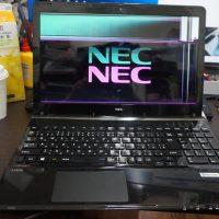 液晶パネルが割れているので交換しました当日修理 NEC LL550/M 1