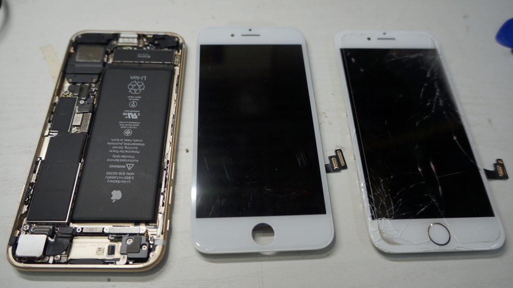 液晶割れ画面割れ30分で即交換 iPhone7 4