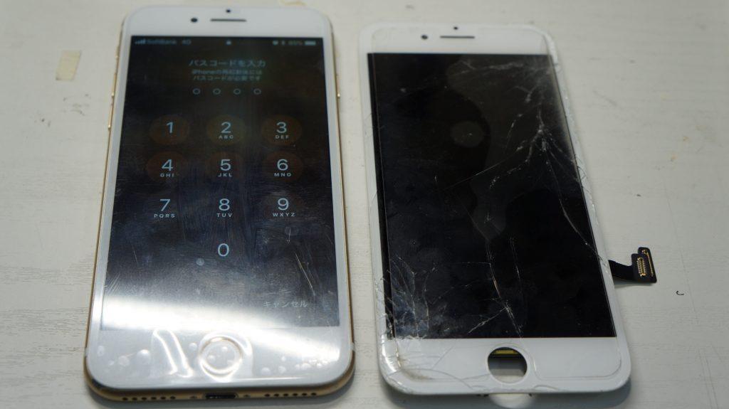 液晶割れ画面割れ30分で即交換 iPhone7 6