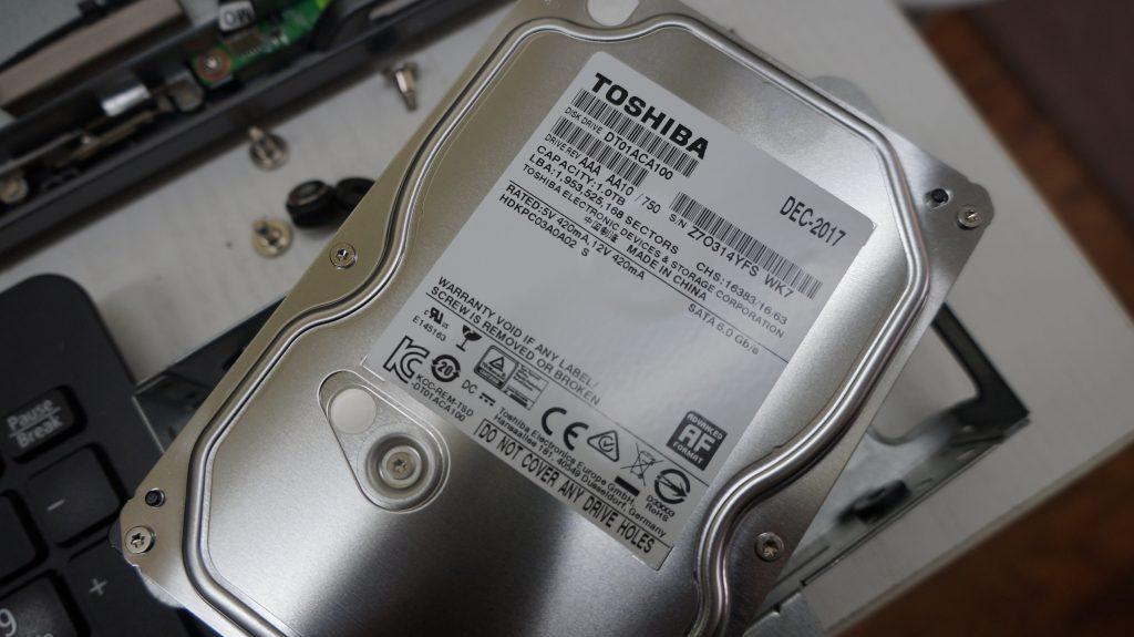HDDセクタ不良により交換&データ復旧 NEC VALUESTAR VN370/E 5