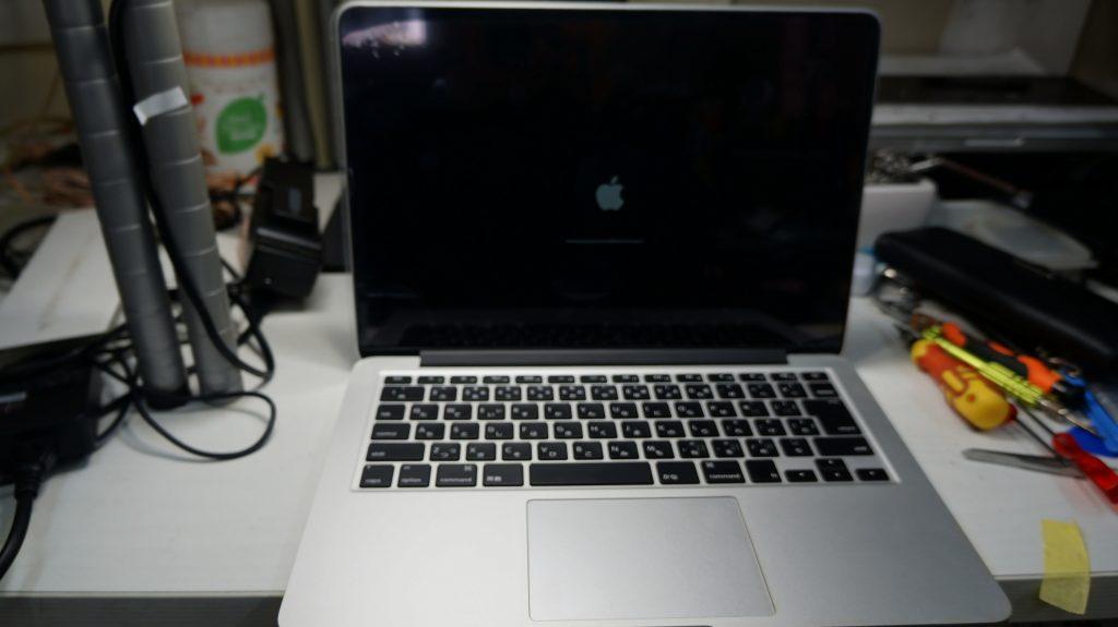 液晶割れで画面が乱れる 液晶交換 Macbook Pro A1502 2013 Retina 7