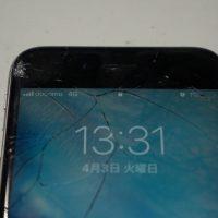 ガラス割れ液晶割れ上部角 液晶パネル交換 iPhone6s 1