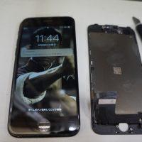 液晶パネルにヒビ 液晶パネル交換 iPhone7 4