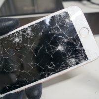 液晶割れ縦線 液晶パネル交換 iPhone7 2