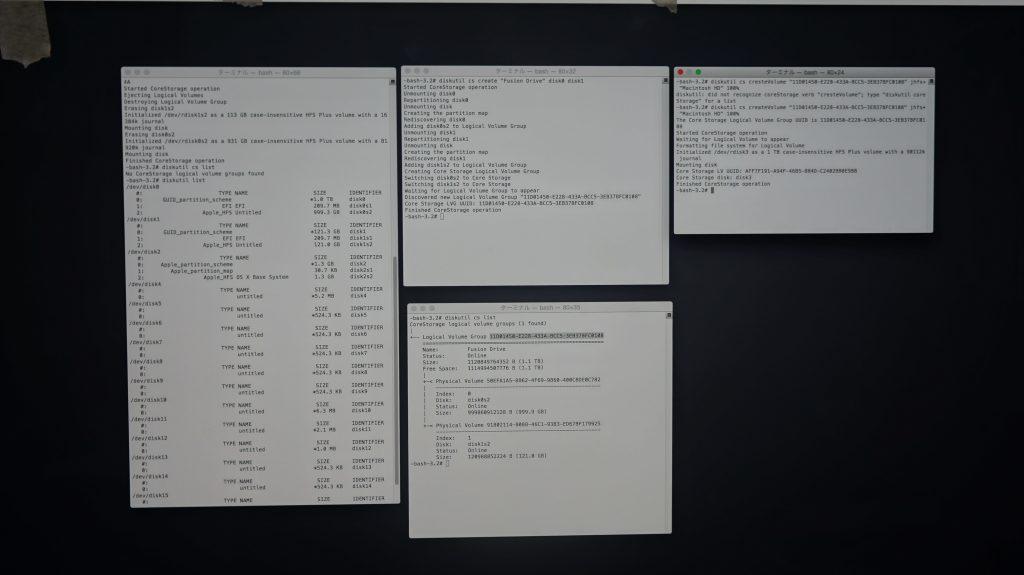 HDD不良によりHDD交換 iMac A1419 Fusion Drive 8