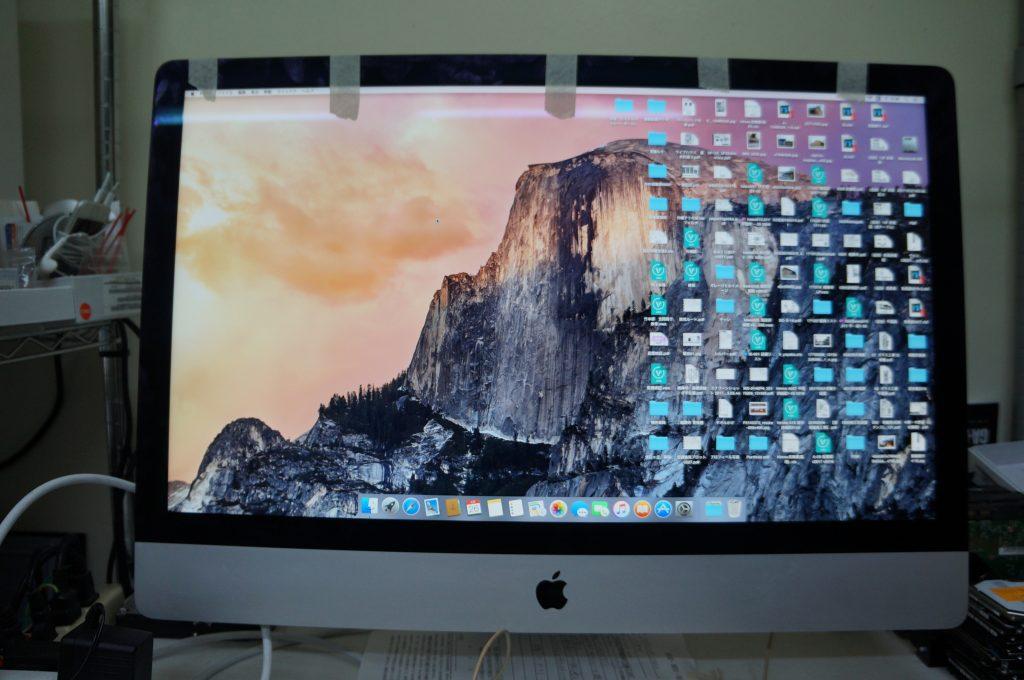 Appleロゴの途中で落ちる HDD交換 iMac 27 A1419 10