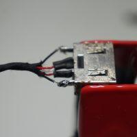 電源ジャックが外れて充電ができない ハンダ+ジャック固定 Lenovo 50-70 6