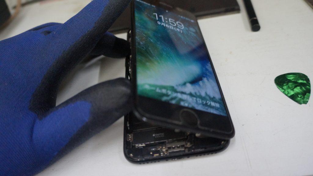 デジタイザ割れで液晶交換 iPhone7 2