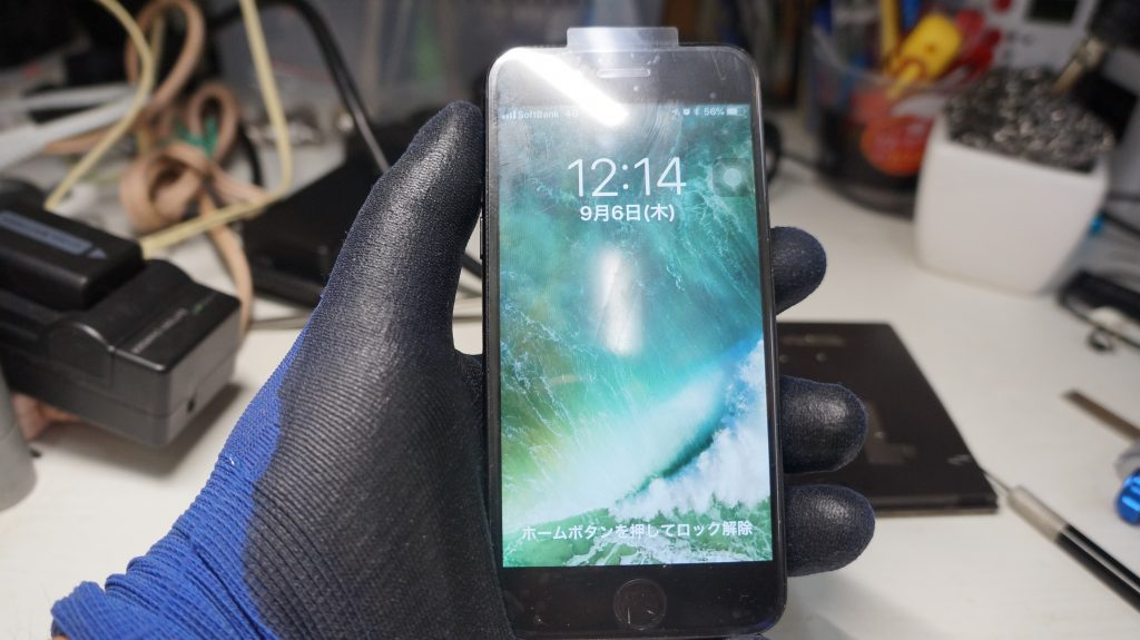 デジタイザ割れで液晶交換 iPhone7 5