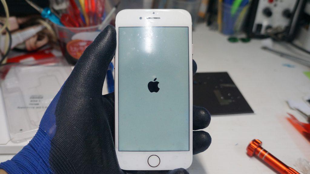 液晶が緑 液晶パネル交換 iPhone7 5