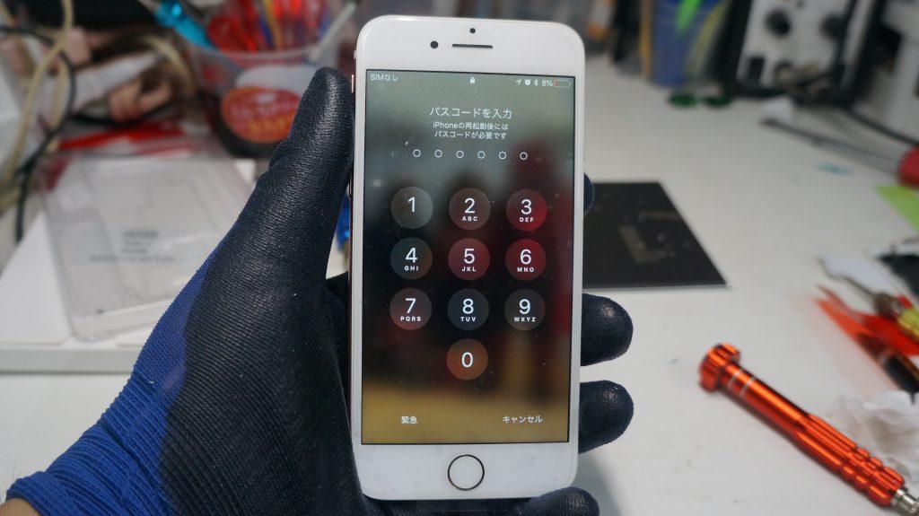 液晶が緑 液晶パネル交換 iPhone7 6