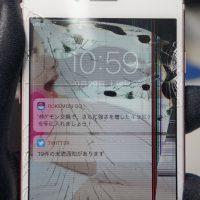 液晶割れ液晶漏れ 液晶パネル交換 iPhone7 2