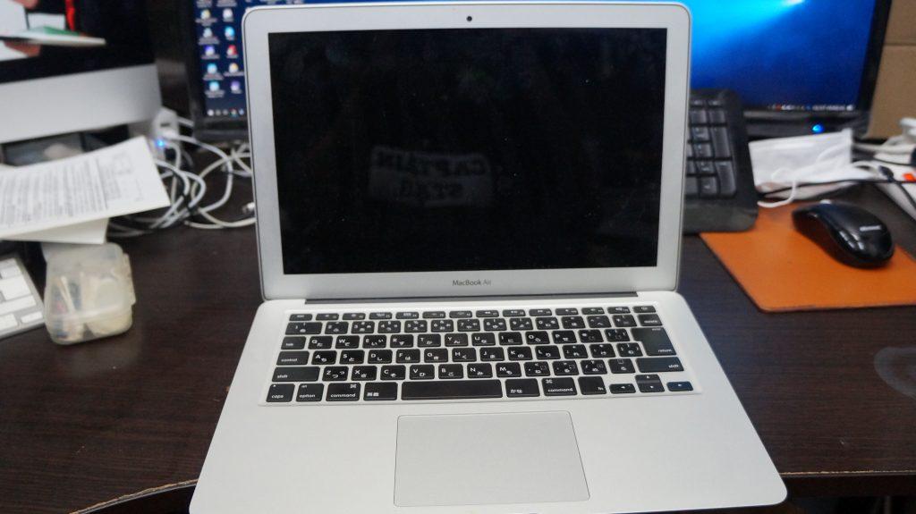 何かをこぼしキーボードが使えない キーボード交換 Macbook Air A1466 1