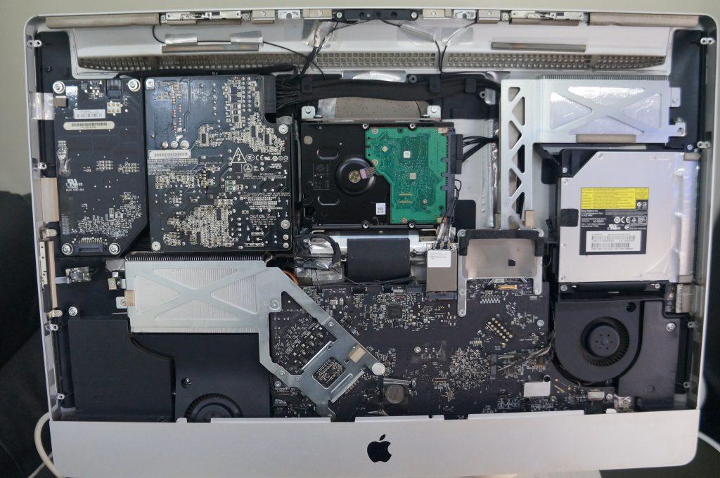 広島Mac修理広島市 起動しない電源が反応しない 電源交換 iMac 21.5 4