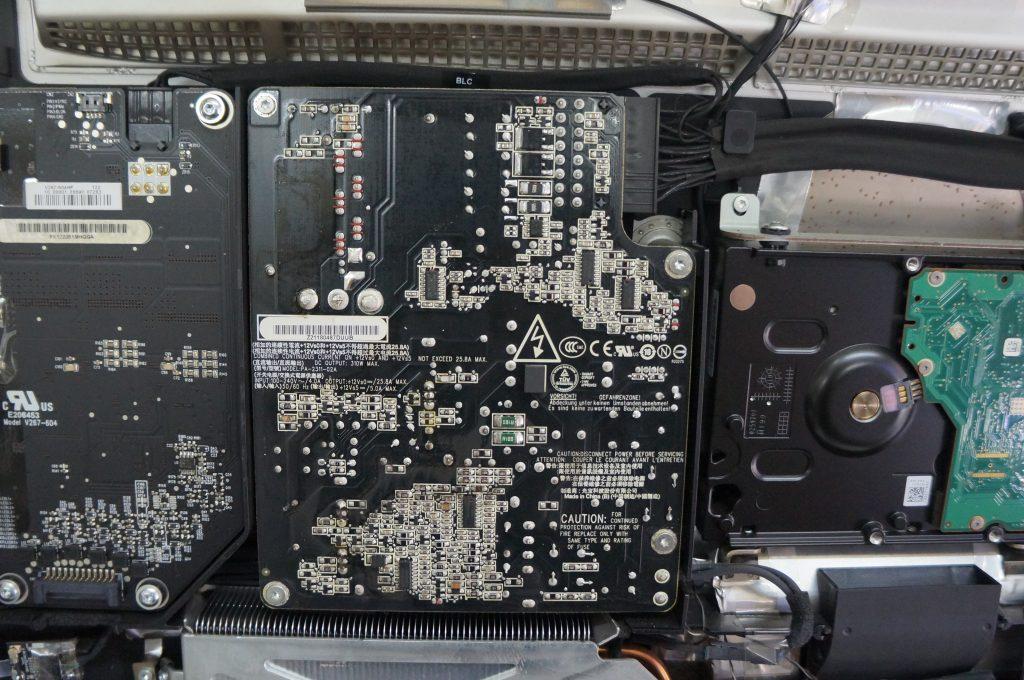 広島Mac修理広島市 起動しない電源が反応しない 電源交換 iMac 21.5 5
